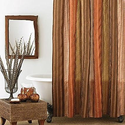 Amazon.com: Large Shower Curtain (Manor Hill Sierra Copper Shower ...