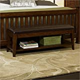 Broyhill Estes Park Upholstered Seat Storage Bench, Brown