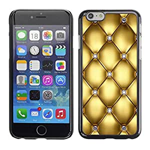 rígido protector delgado Shell Prima Delgada Casa Carcasa Funda Case Bandera Cover Armor para Apple Iphone 6 Plus 5.5 /Gold Design Diamond Bling Glitter/ STRONG