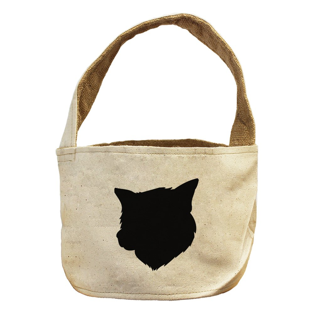 Style in Print Canvas And Burlap Storage Basket Thai Bangkaew Dog Silhouette By by Style in Print