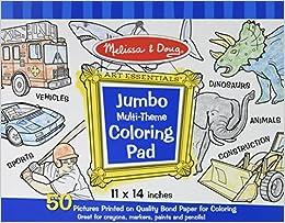 jumbo multi theme coloring pad blue coloring book melissa doug art essentials - Melissa And Doug Coloring Book