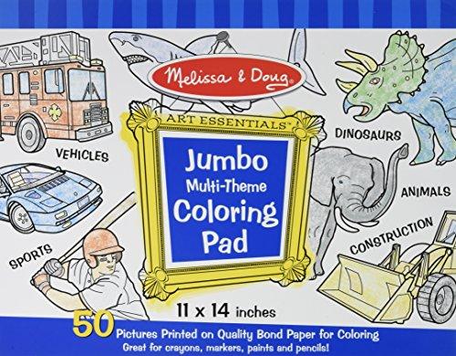 Jumbo Multi-theme Coloring Pad - Blue Coloring Book (Melissa & Doug: Art Essentials)