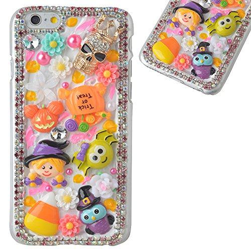 Beauxbatons Halloween Costume (Spritech(TM) 3D Handmade Crystal Phone Case for iphone 6/6S Plus,Helloween Style Monster Pumpkin Design Smartphone Cover)