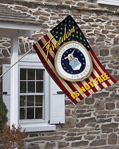Brotherhood Air Force Freedom Isn't Free Decorative House Flag by Brotherhood