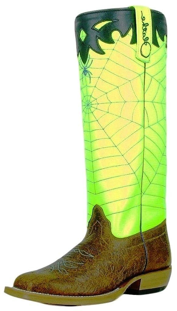 Olathe Western Boots Boys Leather Cowboy Kids Spider Web Brown OK33