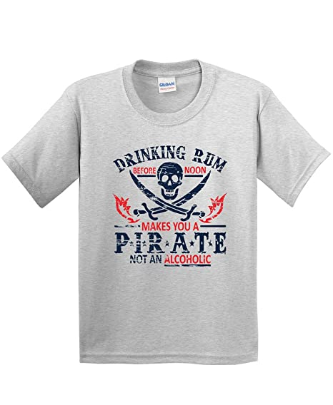 c61bd8ca2bb Amazon.com  Rum Noon Pirate Novelty Sarcastic Drinking Funny T Shirt ...