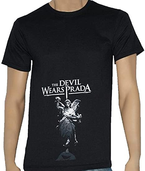 e03e355c76a770 Amazon.com  THE DEVIL WEARS PRADA - Angel - Black T-shirt - size ...
