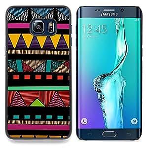 """For Samsung Galaxy S6 Edge Plus / S6 Edge+ G928 Case , Indio nativo americano modelo colorido"""" - Diseño Patrón Teléfono Caso Cubierta Case Bumper Duro Protección Case Cover Funda"""