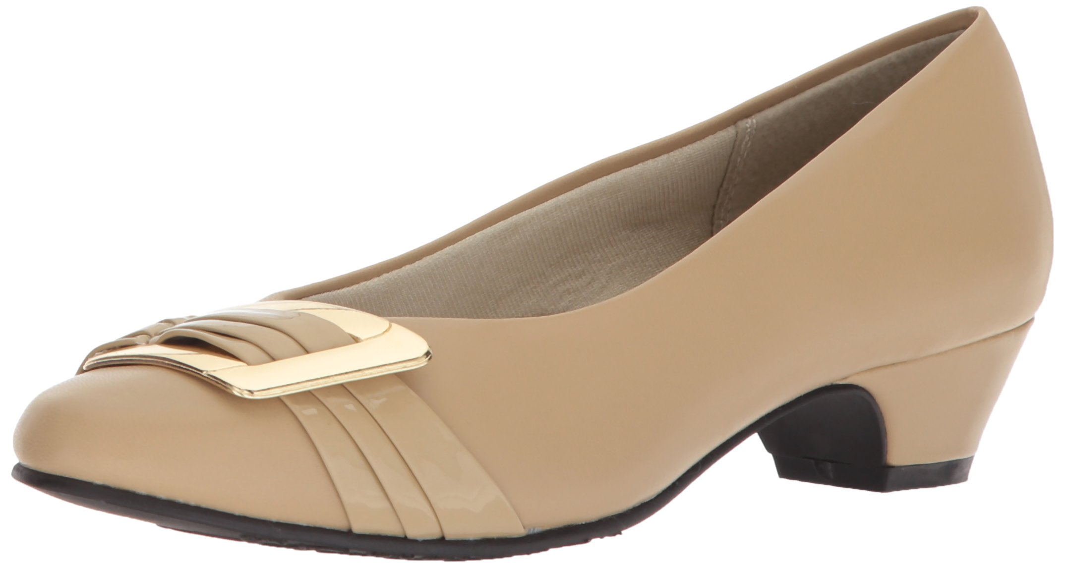 Soft Style by Hush Puppies Women's Pleats Be with You Pump, Starfish Kid/Patent, 09.5 M US