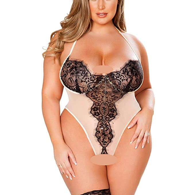 208c45bfdc80 Harpily Conjunto Lencería Erotica Encaje Siamés de Mujer, Sexy Suave ...