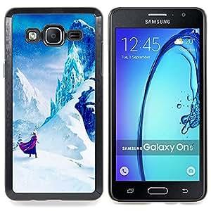 For Samsung Galaxy On5 O5 Case , Cuento de hadas de Montaña Niños Niños - Diseño Patrón Teléfono Caso Cubierta Case Bumper Duro Protección Case Cover Funda