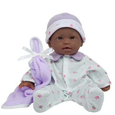 JC Toys, La Baby 11-inch African American Washable Soft Body Play Doll For Children 18 months or Older, Designed by Berenguer