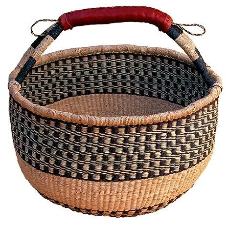 African Market Basket African Round Basket 1 Ea