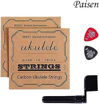 Satz Saiten Ukulelesaiten für Konzert-//Klassik Ukulele Nylon Saiten 4er