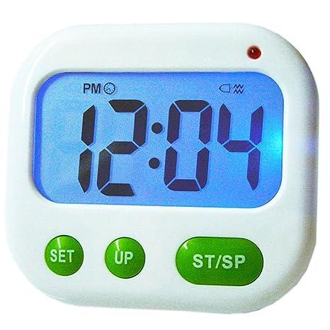 Szaerfa Temporizador de Cocina magnética pequeño y Lindo Digital 24/12 Horas Luz de Fondo
