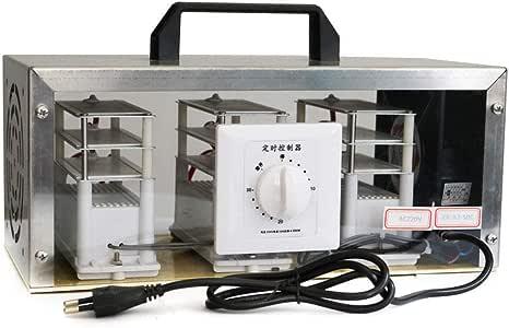 Cozyel AC220V 50 g Generador de Ozono purificador de Aire ozono Dispositivo Ozono isator Máquina de Ozono + Acero Inoxidable de Caja: Amazon.es: Hogar