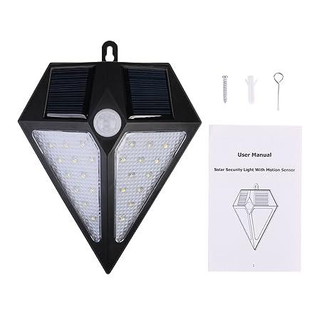 Candora - Lámpara solar de inducción de 24 LED, impermeable ...