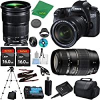 Canon EOS 6D Camera with 24-105mm IS STM Lens + Tamron 70-300mm AF + 2pcs 16GB Memory + Camera Case + Card Reader + Professional Tripod + 6pc ZeeTech Starter Set