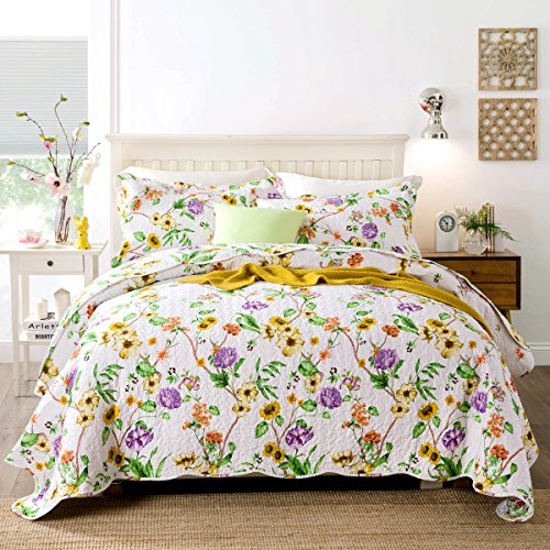 yellow quilts queen size - 9