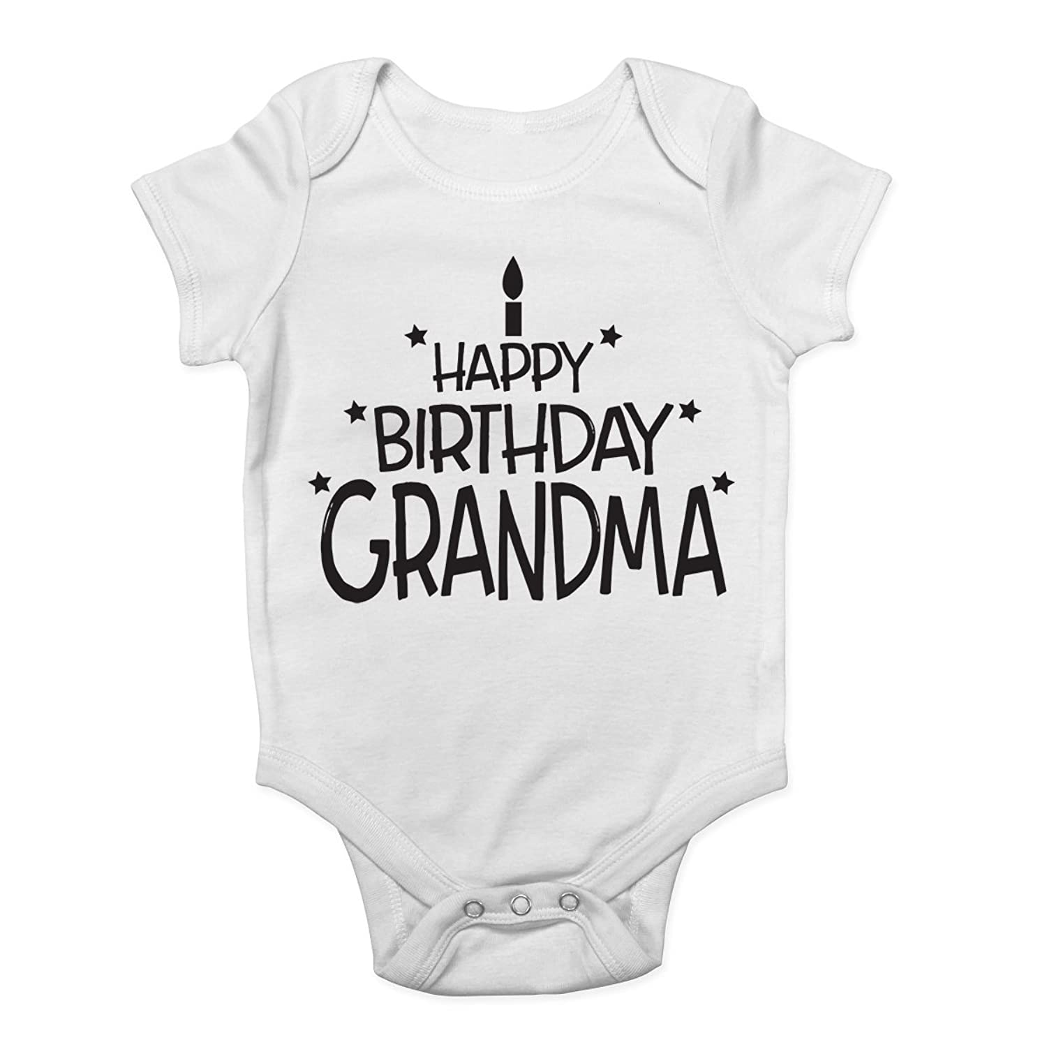 Shopa t Happy Birthday Grandma Cute Boys and Girls Baby Vest