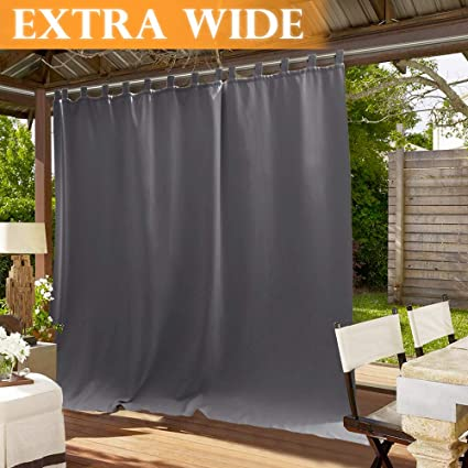 Marvelous Ryb Home Patio Curtain Outdoor Sunlight Blackout Shades Tab Top Extra Wide Drape Waterproof Windproof For Outdoor Indoor Privacy Curtain Wide 100 Home Interior And Landscaping Oversignezvosmurscom