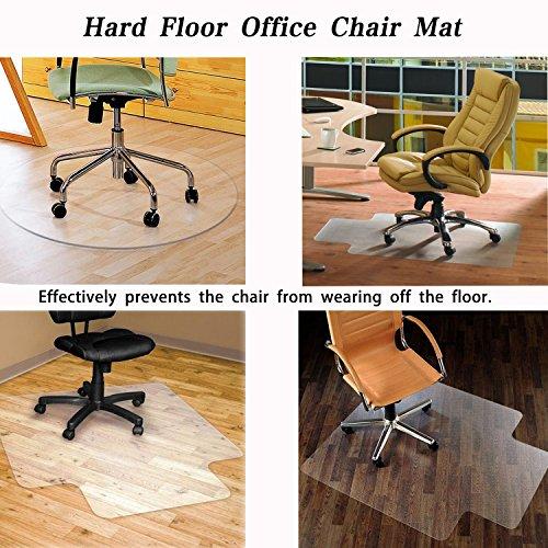 SHAREWIN Chair Mat for Hard Wood Floors - 36''x47'' Heavy Duty Floor Protector - Easy Clean  by SHAREWIN (Image #2)
