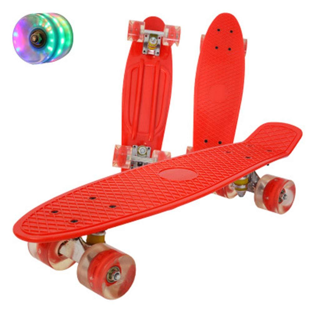 GFF SHOP Pazzo pomeriggio, Cruiser Completo in plastica Vintage, Skateboard Ruote in PU,A5