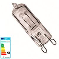 Sylvania Hi-Pin Eco Ampoule halogène G9, 42W, 230V