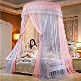 Lustar Court Style Mosquito Net Bed Canopy Children Fly Insect Protection Indoor Decorative Height 280cm Top Diameter 1.5m,Grey