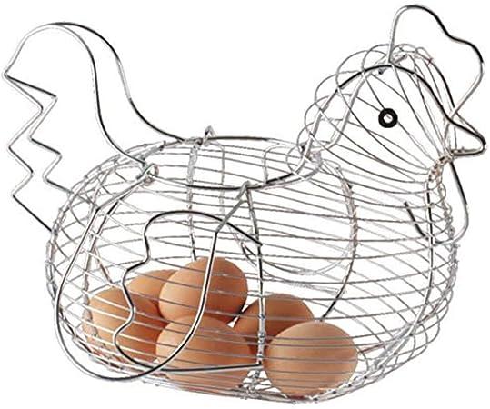 Cestino per uova a forma di pollo per frutta e frutta