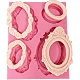 Mirror Frame Shape Silicone Molds Fondant Cake Decoration Sugar Craft Tools Baking Tools DIY