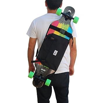 Mochila para Llevar el Longboard, Skateboard Completo, Idea de Regalo San Valentin. Color Negro.: Amazon.es: Deportes y aire libre