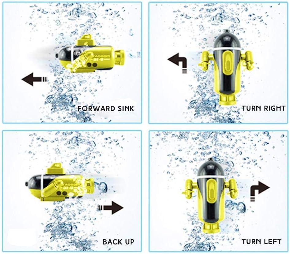 Mini barco de carreras con control remoto Barco de juguete el/éctrico recargable Modelo militar Submarino Piscinas impermeables Estanques de lago Agua Ni/ños Control Barco submarino Barco el/éctrico