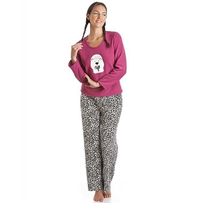 Camille Mujer Conjunto de pijama de oso polar rosa: Amazon.es: Ropa y accesorios