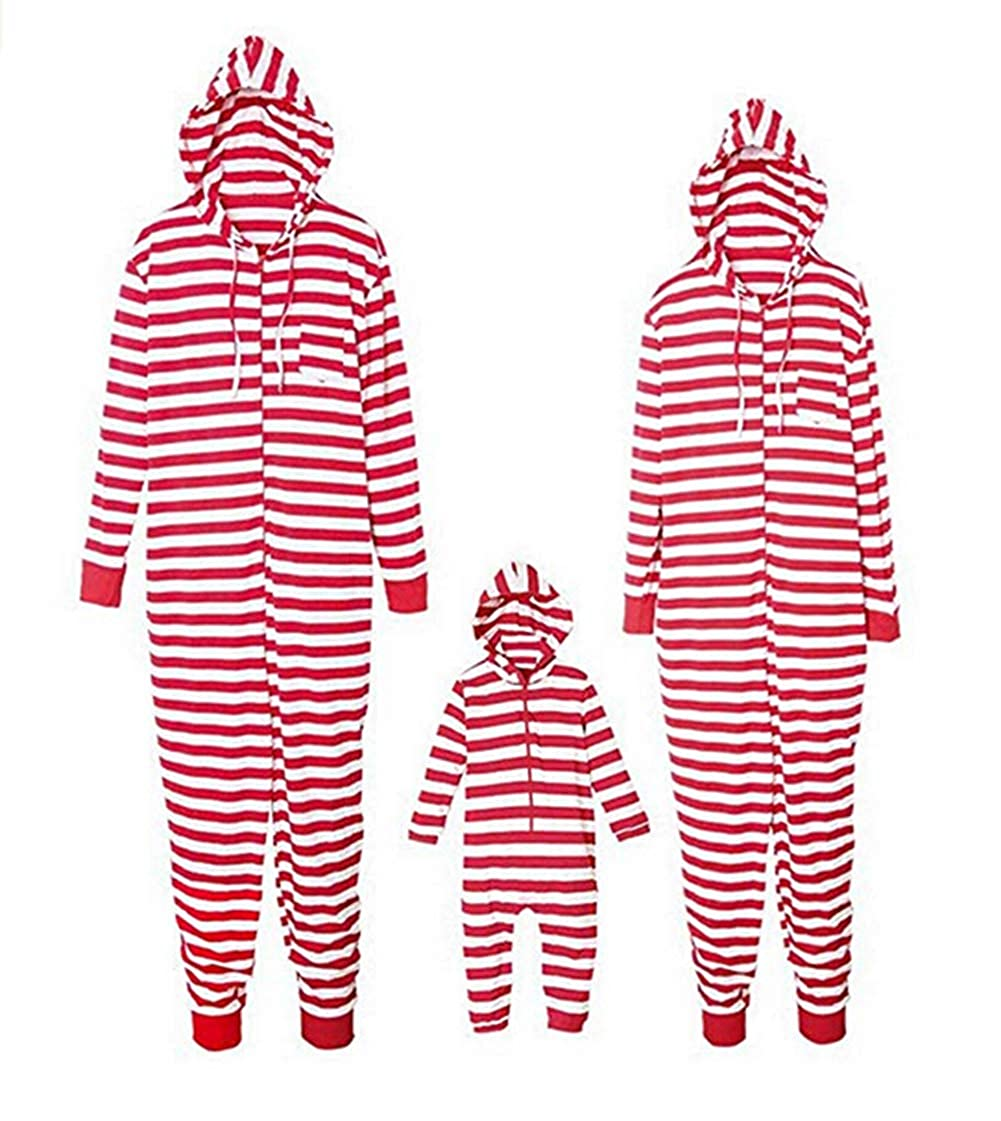 Family Matching Christmas Stripes Deer and Santa Claus Pajamas for Kids Mom and Dad One Piece Sets Sleepwear Family Clothing Outfits