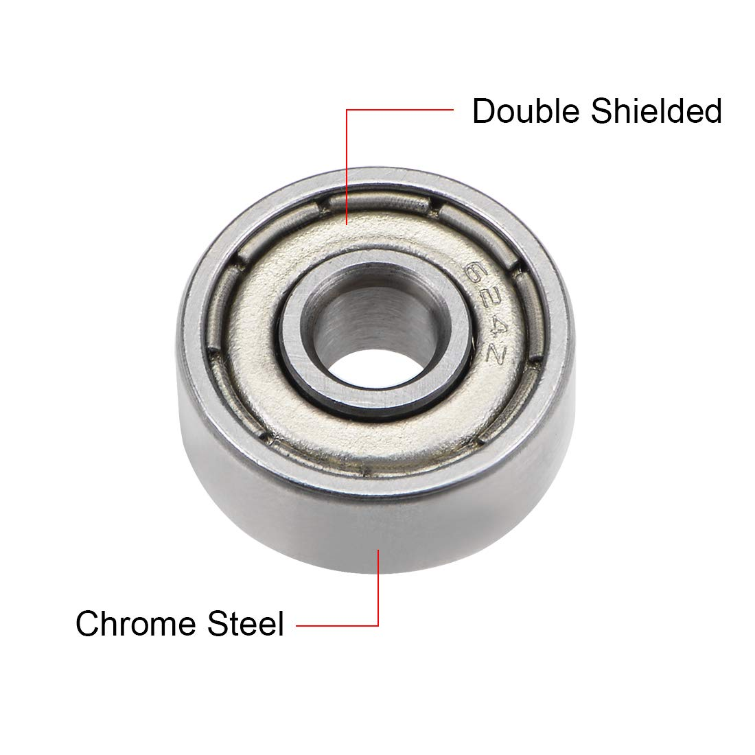 623ZZ Ball Bearing 3x10x4mm Double Shielded ABEC-3 Bearings 5pcs