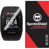 (6-PACK) Spectre Shield for Polar M400 Screen Protector (Military-Grade) Flexible Full Coverage Ultra HD Clear Anti-Bubble Anti-Scratch Film