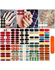 ADOHOX nagellak stickervellen Nail Art sticker, zelfklevende nagelstickers, kerst nagelvel, nagelstickers, met nagelvijlen