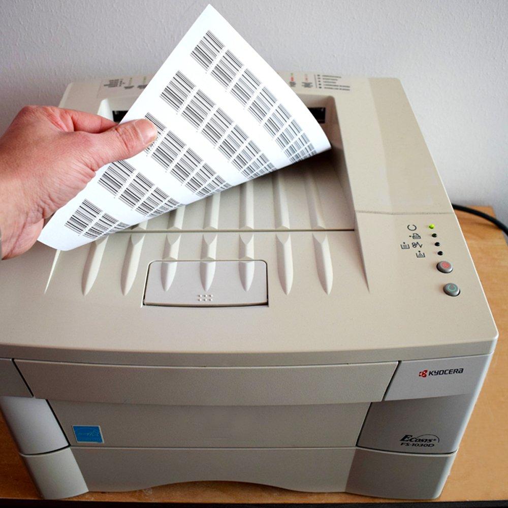 TE-Office 6000 Unidades Etiquetas adhesivas Etiquetas adhesivas Etiquetas de env/ío en A4 Arco blanco mate 97 x 42,4 mm L/áser Inyecci/ón de tinta