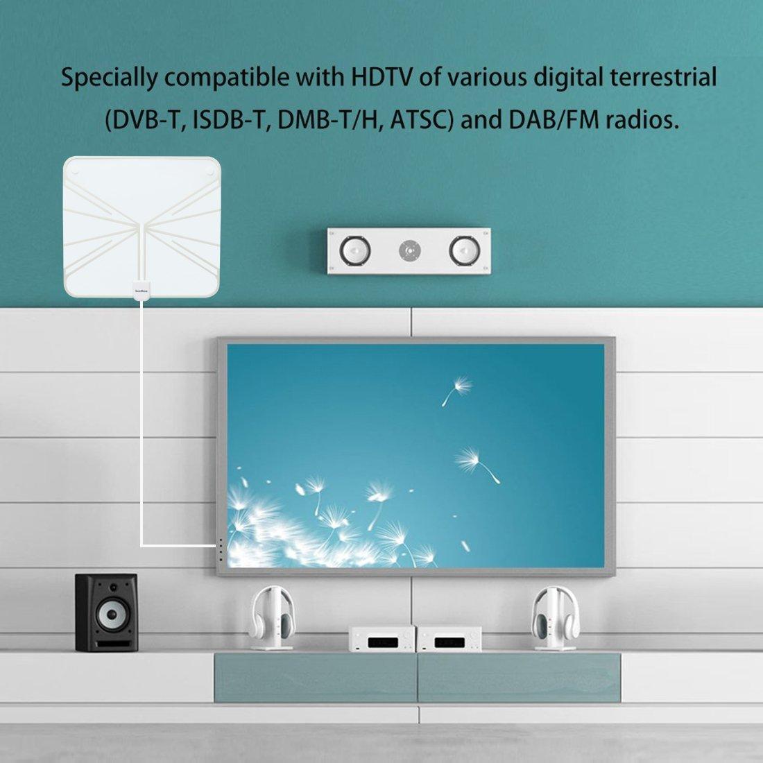 Amazon.com: Leelbox HDTV Antenna 60 Miles Range Digital 4K/Full HD ...