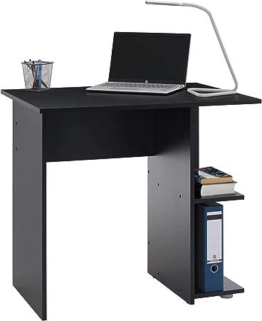 en m/élamin/é d/écor ch/êne Sonoma IDIMEX Bureau pour Enfant ou Adulte Nova Bureau Informatique Table dordinateur avec Rangement Ouvert 2 tablettes lat/érales