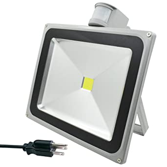 GLW 50w Led Motion Sensor Flood Light 5010lm PIR Outdoor Security Floodlight 3000k Warm White  sc 1 st  Amazon.com & GLW 50w Led Motion Sensor Flood Light 5010lm PIR Outdoor Security ...
