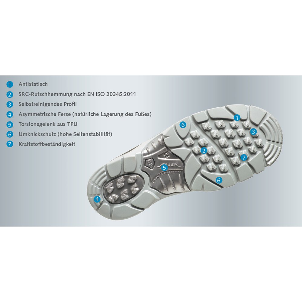 Abeba 2130 – 36 Anatom Scarpe di sicurezza Mocassin, - Bianco, 2130-43  - Mocassin, 70f55a