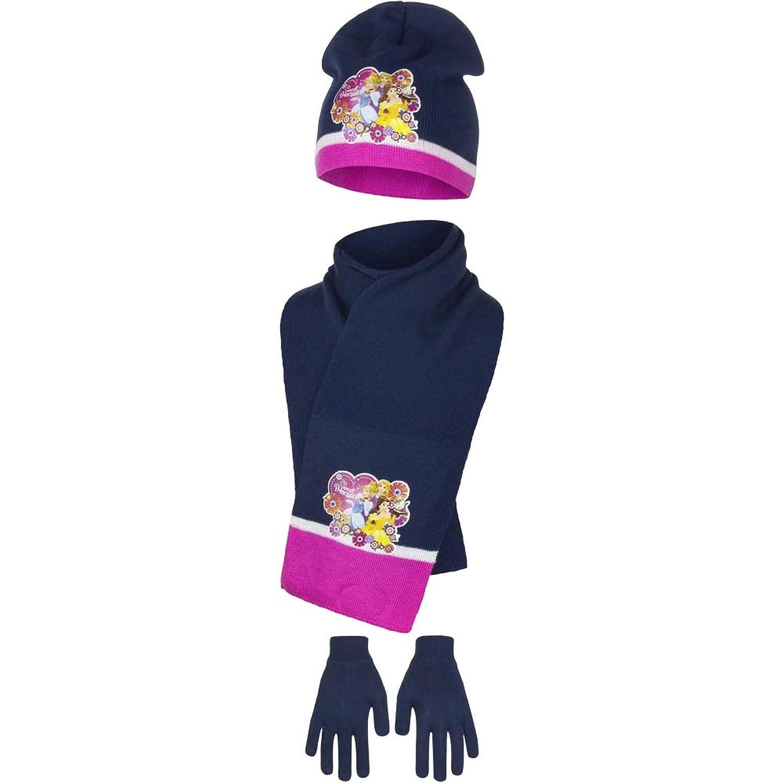 Disney Princess - Set de bufanda, gorro y guantes - para niñ a gorro y guantes - para niña PRI2550HSG