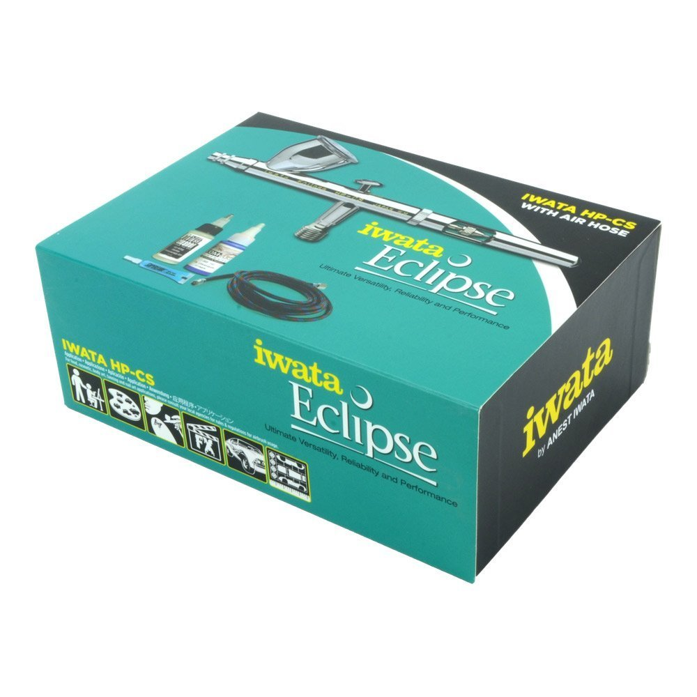 Iwata Eclipse Hp-Cs Value Set with Hose Cleaner and Paint by Iwata-Medea