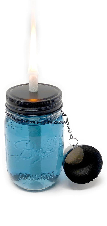 Amazon.com : MyGo2Shop Mason Jar Tiki Torch Kit, Includes 4 Long ...