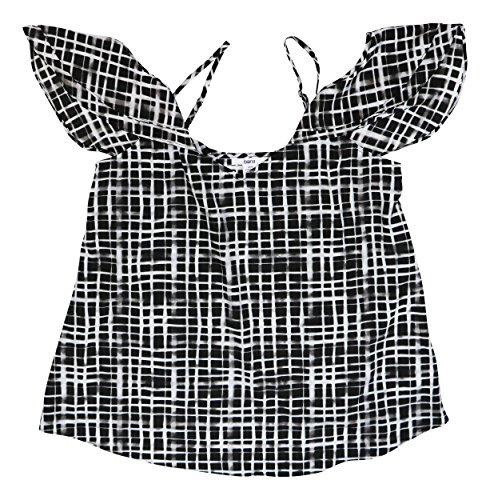 Bar III Womens Draped Off-The-Shoulder Tank Top (Black Combo, X-Large) from Bar III