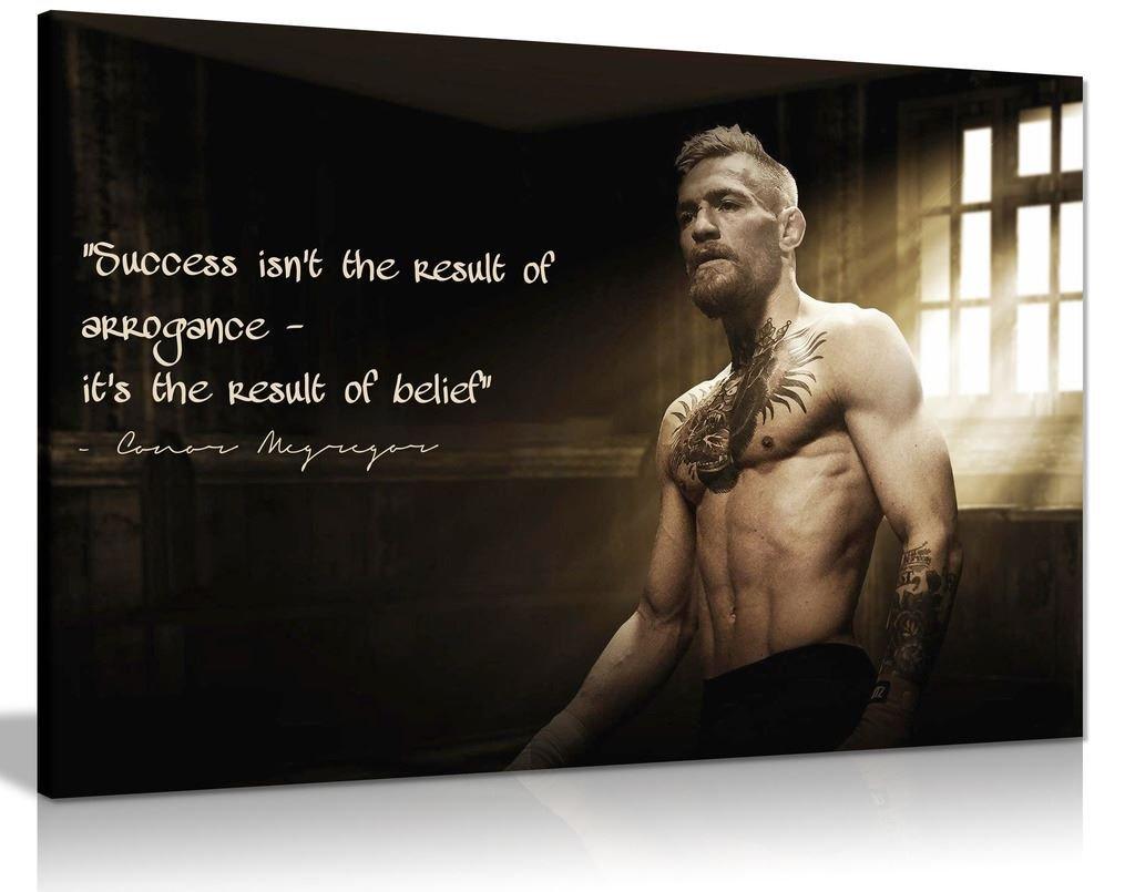 Kunstdruck auf Leinwand, mit einem einem einem Zitat von Conor McGregor, A0 91x61cm (36x24in) b16b24