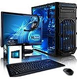 """Vibox Ultra Pacchetto 11XW Gaming PC con Gioco War Thunder, 21.5"""" HD Monitor, 3.1GHz AMD A8 Quad Core Processore, Radeon R7 Chip Grafico, 2TB HDD, 8GB RAM, Case Corsair Spec-01, Blu"""
