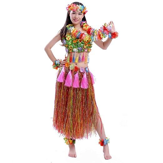 chinejaper Disfraz Hawaiana Mujer Juego De Disfraces ...
